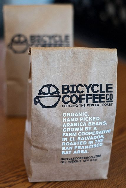 Screen-printed Bicycle Coffee bags, the third iteration