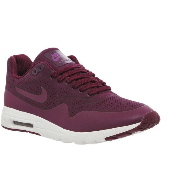 Nike Air Max 1 Ultra Moire (l) (595 BRL) ❤ liked on Polyvore featuring shoes, sneakers, hers trainers, mulberry purple, trainers, nike sneakers, nike trainers, air cushion shoes, nike footwear and flexible shoes