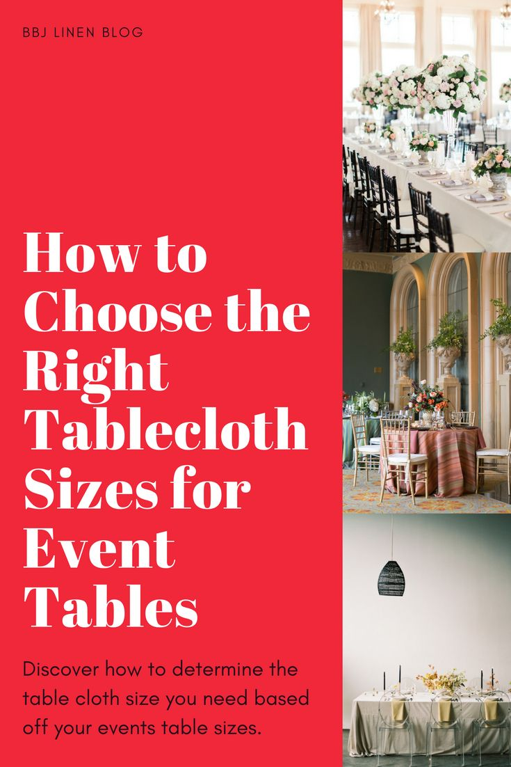 How to Choose the Right Tablecloth Sizes for Event Tables | BBJ Linen