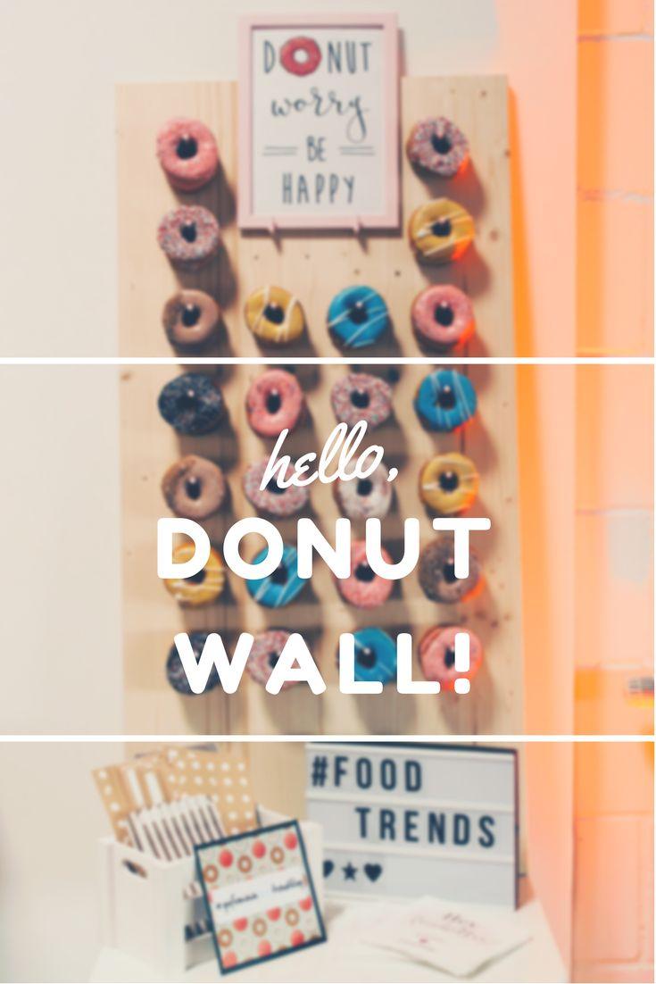 Donuts are the best? Ihr liebt donuts und seid auf der Suche nach diesen stylischen Donut Walls? Holt euch eure Inspiration!