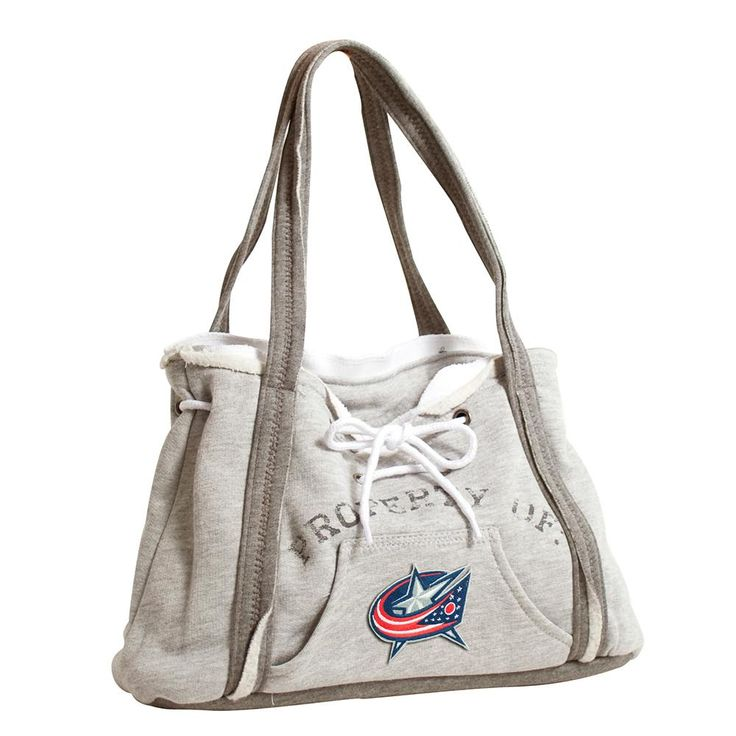 Columbus Blue Jackets NHL Property Of Hoodie Purse  These purses take the authentic look and feel of your favorite team sweatshirt and craft them into purses that will give you that Saturday night style, even when you're heading off to the Sunday afternoon game. Vintage detailing and decorative lacing are just a few of the ways Littlearth offers their Sports Fan alternative ways to show spirit. Our Purse features both a kangaroo pocket on the front and one internal patch pockets inside.