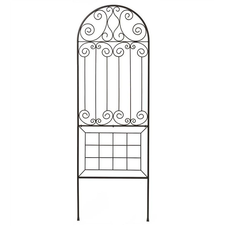 "24"" x 72"" Steel Garden Trellis with Scroll Design 