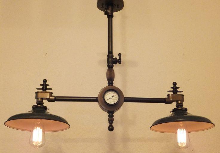 Steampunk Lamp Industrial Light Steampunk Chandelier Vintage Machine Age Edison Bulb Antique