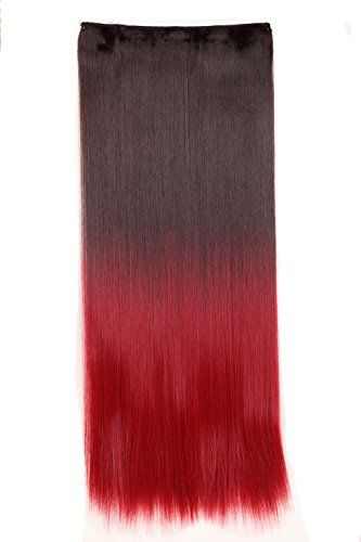 25 Straight One Piece Ombre Hair Extensions Dark Brown to Dark Red * Click image for more details.(This is an Amazon affiliate link and I receive a commission for the sales)