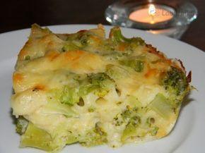 Zapečená brokolice v sýrovém bešamelu 400 g brokolice, 200 g uvarených cestovín, 400 ml mlieka, 2 PL čerstvej petržlenovej vňate, mleté čierne korenie, muškátový orech, 150 g syra Jarlsberg. Chuťovo výborné jedlo.