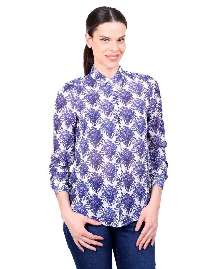 Karaca Bayan Gömlek - Mavi #womensfashion  #shirt #gomlek #karaca #ciftgeyikkaraca   www.karaca.com.tr