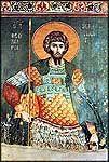 St Théodore Stratelates, Karyes, Protaton.  Fresque par Manuel Panselinos, 14 c.