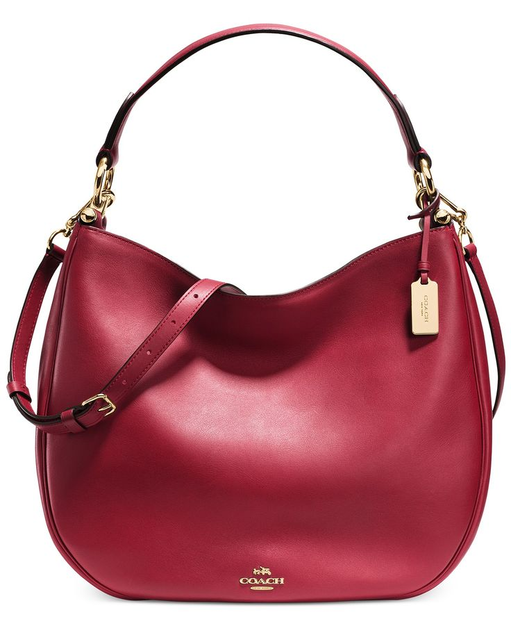COACH NOMAD HOBO IN GLOVETANNED LEATHER - Handbags & Accessories - Macy's
