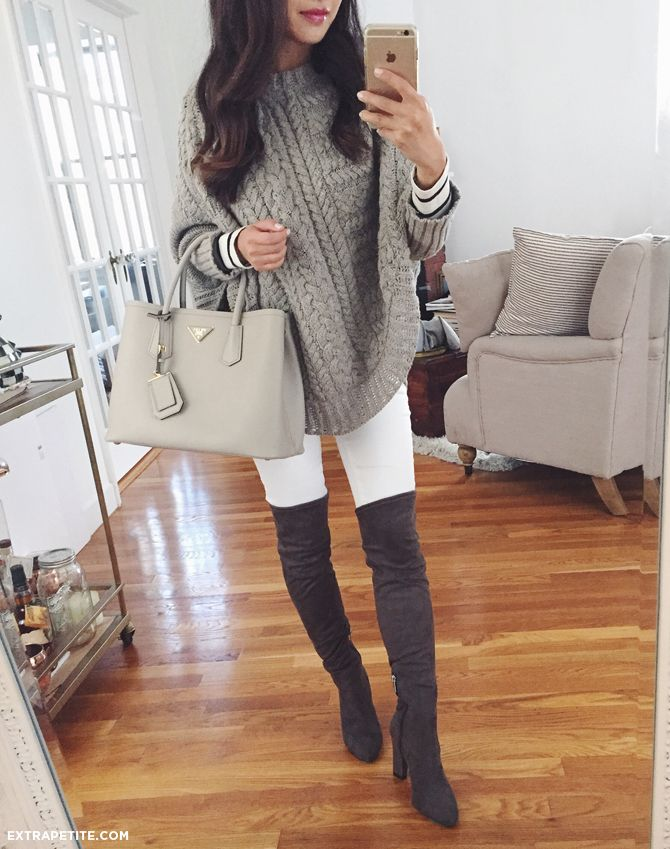 Summer dress knee high boots petites