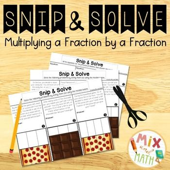 Multiplying fractions can be an easier skill for students to do, but difficult skill for students to deeply understand. Snip & Solve: Multiplying a Fraction by a Fraction gives students hands-on experience acting out and modeling scenarios where they multiply fractions in everyday life!