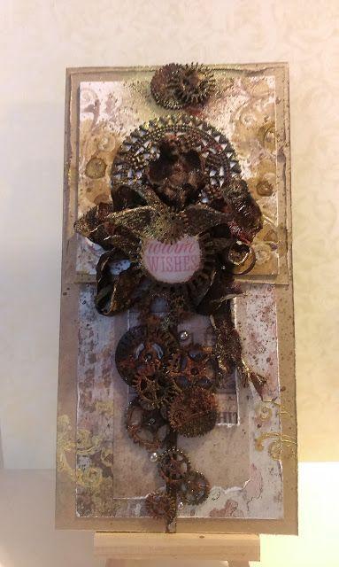 Papierowe pasje i nie tylko ...: Świąteczne brownie w stylu steampunk - czyli Barba...