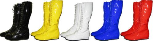 Pro-wrestling multi-coloured boots
