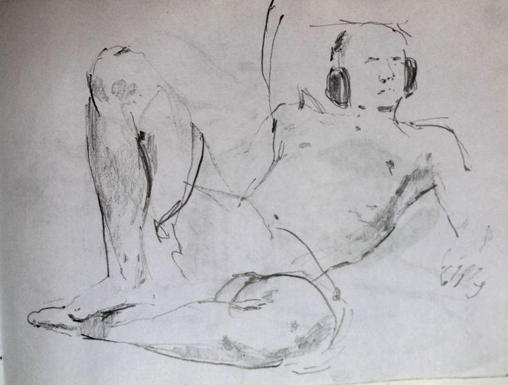 Титенков Владислав. Набросок молодого человека. А5.2013 Titenkov Vladislav. Sketch of ayoung man . А5.2013