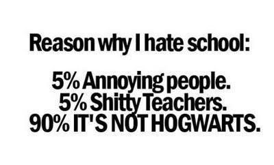 I wish Hogwarts was real