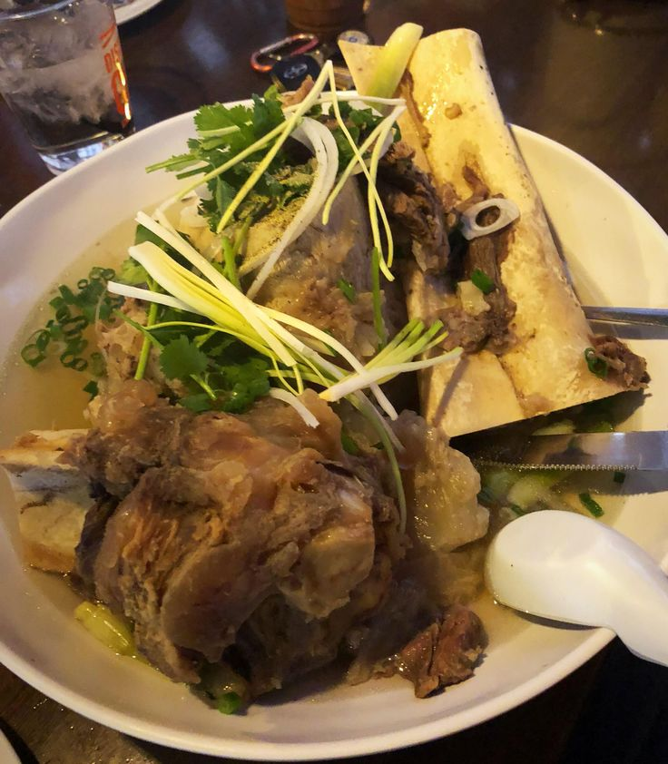 [I Ate] bone soup Vietnamese restaurant off the strip of Las Vegas Nevada