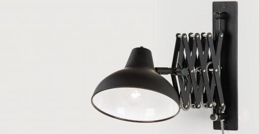 Frosini Wandlampe, Schwarz