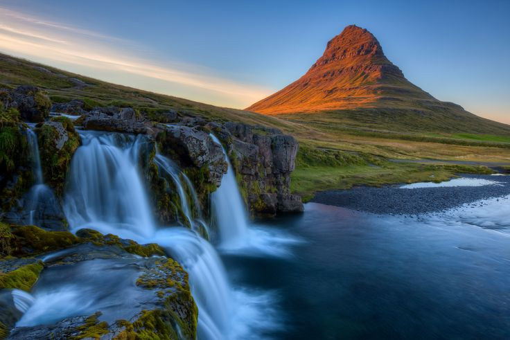 "Suns Glow on Kirkjufell - Follow Me on: <a href=""http://500px.com/BasicElementsphoto"">500px</a> 