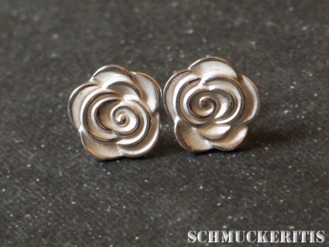 Blütenstecker, 925er Sterling, Rosen von Schmuckeritis auf DaWanda.com