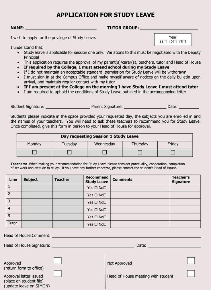 Blank Leave Application Form Templates (8+ Pdf Samples