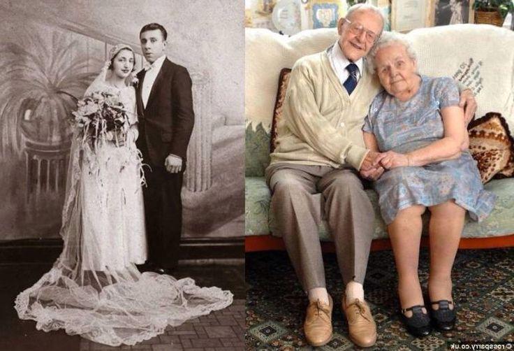 Jong getrouwd samen oud geworden