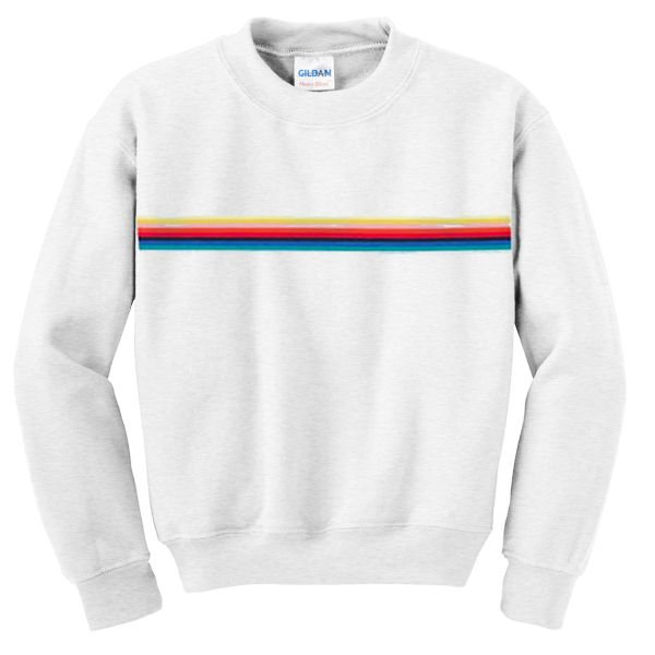 stripped rainbow sweatshirt