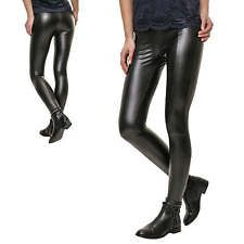 JdY Only Damen Leggings PU Lederhose Skinny Fit Stretch Lederleggings Hose