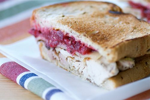 Killer Turkey Sandwich Recipe Roundup-- a bunch of ideas for what to do with that leftover Thanksgiving turkey.