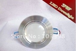 "Free shipping 3W LED downlight 12PCS/Lot 85~100LM/W AL+PC mask 2.5"" Silver high-power on AliExpress.com. $166.00"