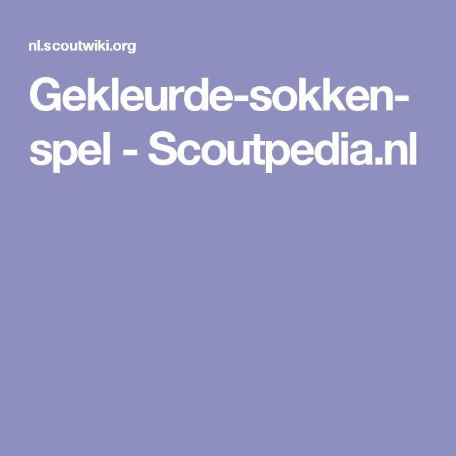 Gekleurde-sokken-spel - Scoutpedia.nl