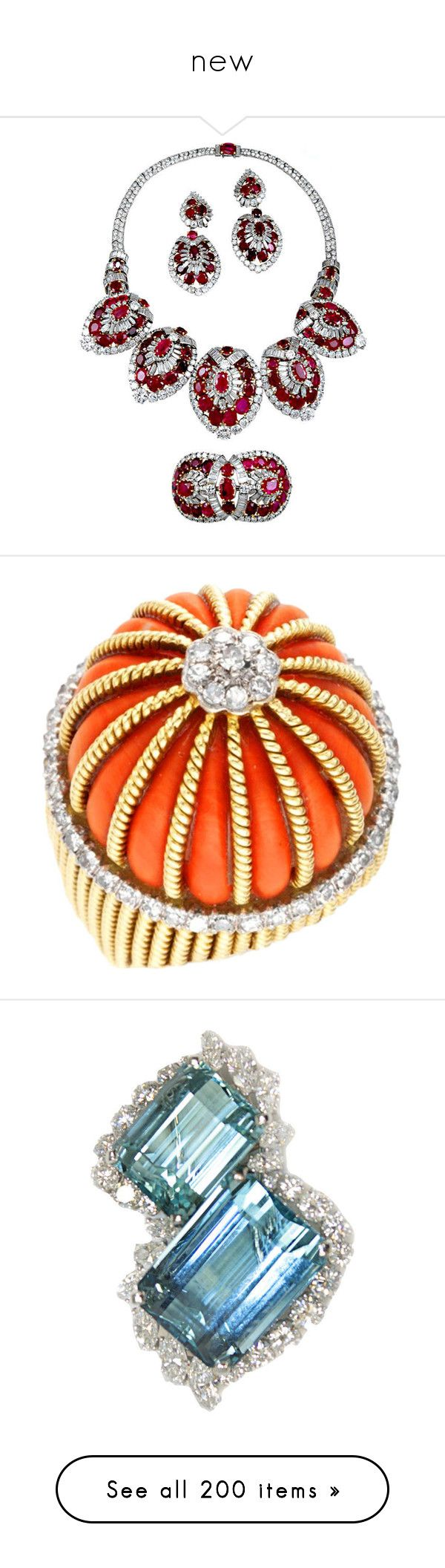 """new"" by biju-nicklace ❤ liked on Polyvore featuring jewelry, cartier jewelry, diamond jewellery, cartier jewellery, ruby jewellery, ruby jewelry, rings, diamond rings, coral ring and coral jewelry"