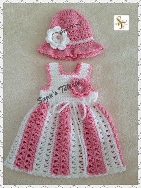 Maria... Conjunto de vestido y sombrero conjunto por SuziesTalents