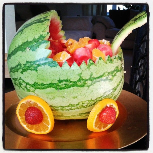 watermelon baby shower fruit salad baby shower pinterest