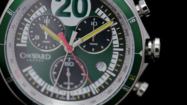 The C70 VW4 Chronometer has been inspired by the 1957 victory at Aintree of the Vanwall VW4 racing car that started with Tony Brooks behind the wheel and took the chequered flag with Stirling Moss in the drivers seat. This was the first time a World Championship Grand Prix race had been won in Britain by a British car, driven by British drivers.
