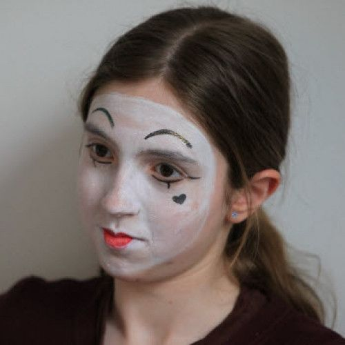 Mime Face Paints & Glitter