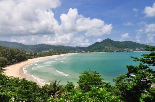 Panorama of Kamala Bay and beach Kamala , Phuket, Thailand. I called this home for a year. SPOILED!
