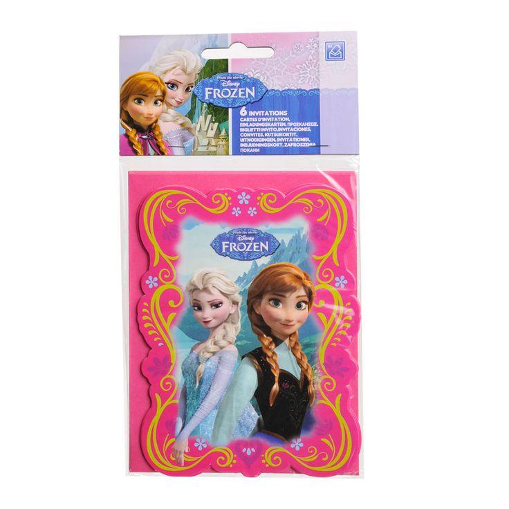 Disney Frozen Uitnodigingen, 6st. Afmeting:11 x 14,5 cm - Disney Frozen Uitnodigingen, 6st.