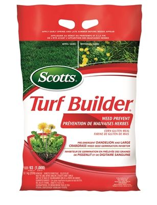 Scotts 9.1kg Turf Builder All-Season Weed Prevent Lawn Fertilizer