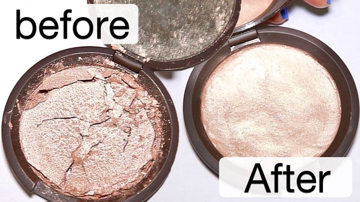 how to FIX any broken makeup: Works for powders, bronzer, eyeshadow, highlight and blush!