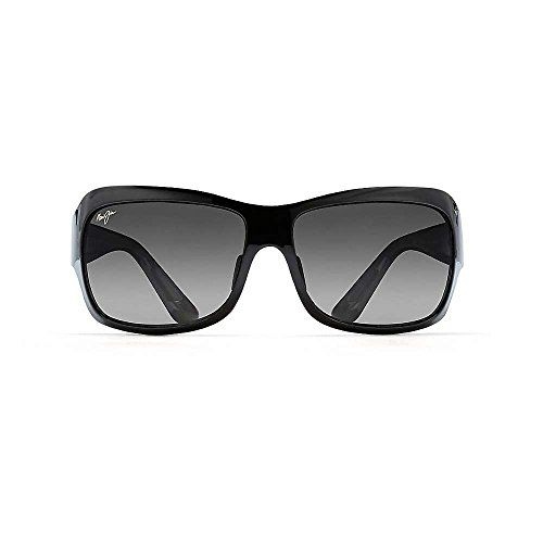 Maui Jim Sunglasses Seven Pools Gloss Black Fade/Grey GS418-02J Polarised 62--175