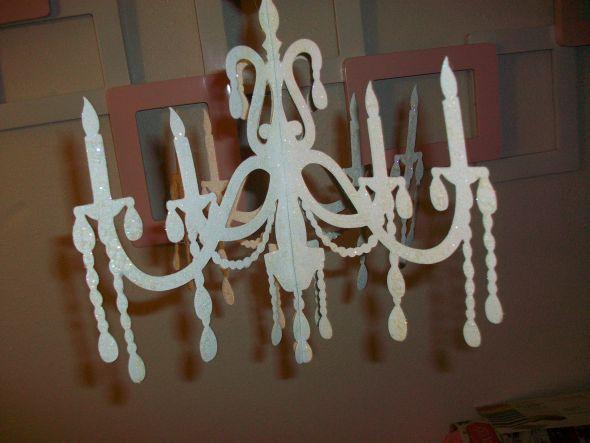 Diy foam chandelier craftbnb diy chandelier silhouetteuse foam core glitter spray paint aloadofball Choice Image