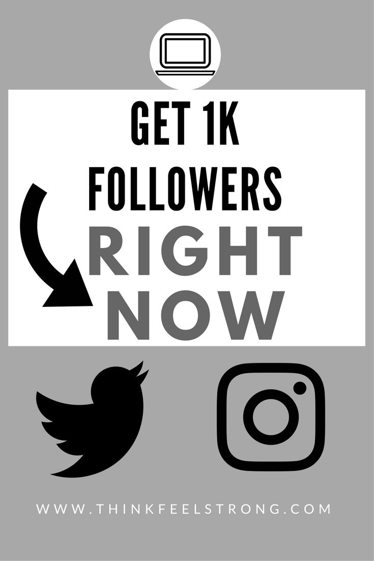 Learn the top-secret strategies and get to 1k followers RIGHT NOW. Instagram and Twitter hacks and tricks unveiled! Learn how to use Instagram's new algorithm to benefit YOU! www.thinkfeelstrong.com