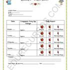 This printable allows you to demonstrate the behavior of yours students. Good to share or send to parents. www.edurecursos.com...