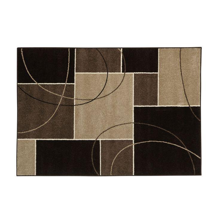 Tapis à motifs carrés 170x120cm Chocolat - Romance - Les tapis - Textiles et tapis - Salon et salle à manger - Décoration d'intérieur - Alinéa