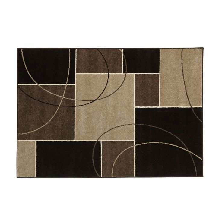 tapis motifs carr s 170x120cm chocolat romance les tapis textiles et tapis salon et. Black Bedroom Furniture Sets. Home Design Ideas