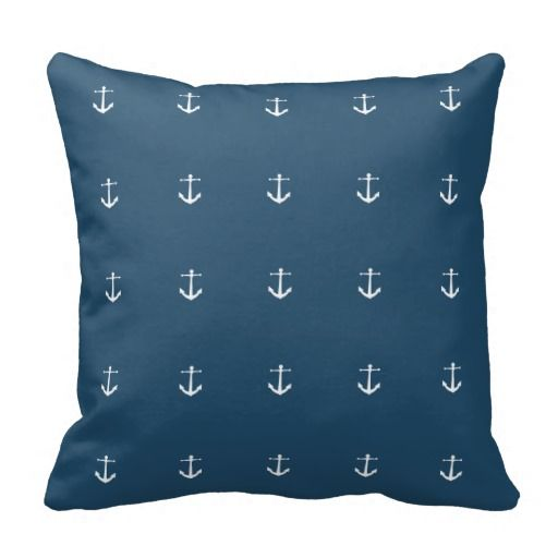 Anchor Nautical Throw Pillow