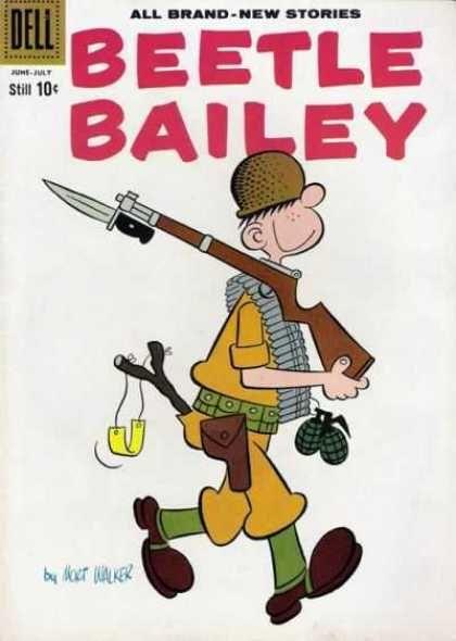 beetle bailey   Beetle Bailey 21 - Rifle - Grenade - Helmet - Slingshot…