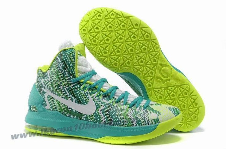 the latest 794b5 c5971 Sale Discount iD Offers New Graphic Pattern White Gorge Green 554988 003 Nike  Zoom KD 5 Basketball Shoes Shop