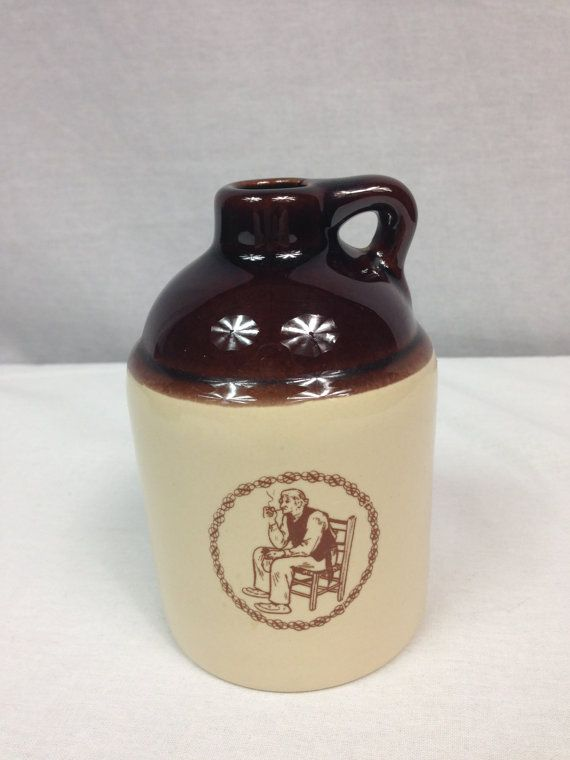 Vintage Beauce Canada Jug Little Brown Pottery Jug by OfYearsPast