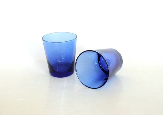 Anchor Hocking Cobalt Blue Drinking Glasses by browneyeddaisy, $10.00