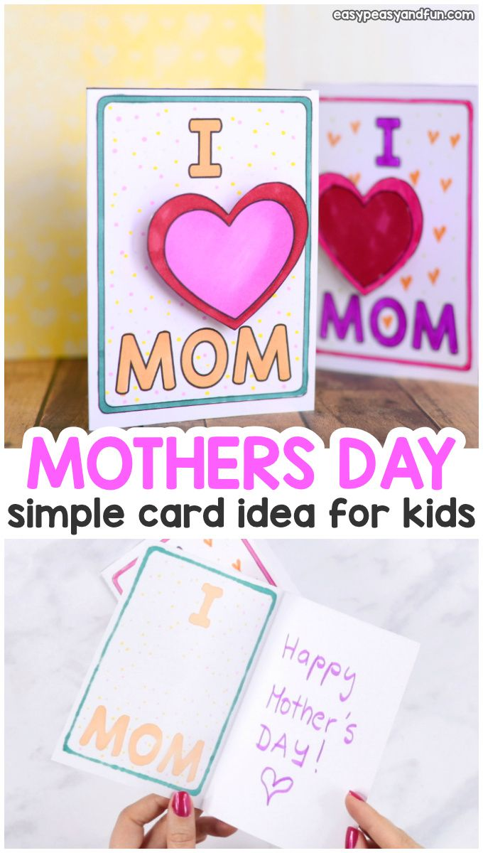 Simple Mothers Day Card Idea Happy Mother S Day Card Mothers Day Card Template Simple Cards